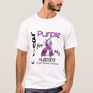Cystic Fibrosis I Wear Purple For My Husband 43 T-Shirt