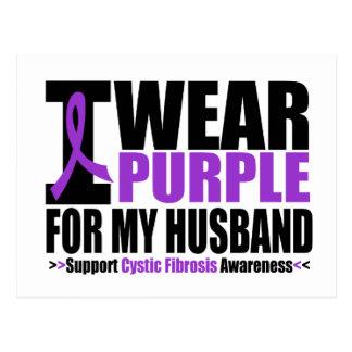 Cystic Fibrosis I Wear Purple For My Husband Postcard