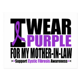 Cystic Fibrosis I Wear Purple For My Mother in Law Postcard