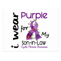 Cystic Fibrosis I Wear Purple For My Son-In-Law 43 Postcard