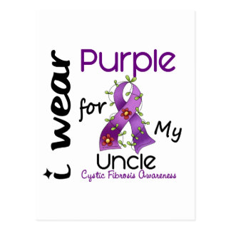 Cystic Fibrosis I Wear Purple For My Uncle 43 Postcard