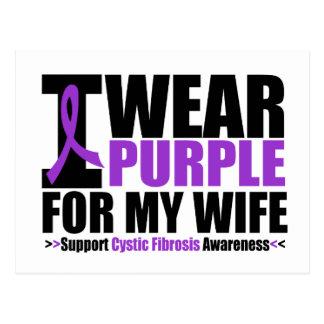 Cystic Fibrosis I Wear Purple For My Wife Postcard