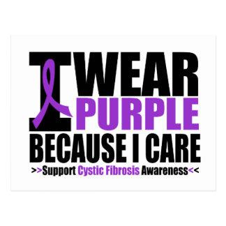 Cystic Fibrosis I Wear Purple Ribbon Because I Car Postcard