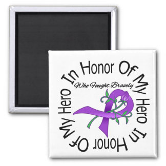 Cystic Fibrosis In Honor Of My Hero 2 Inch Square Magnet