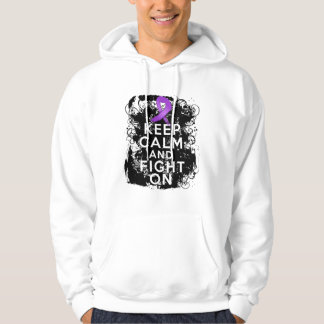 Cystic Fibrosis Keep Calm and Fight On Hoodie