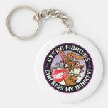 Cystic Fibrosis Kiss My Donkey Basic Round Button Keychain