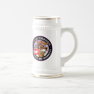 Cystic Fibrosis Kiss My Donkey Beer Stein