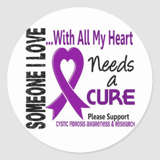 Cystic Fibrosis Needs A Cure 3 Classic Round Sticker