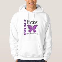 Cystic Fibrosis Never Give Up Hope Butterfly 4.1 Hoodie