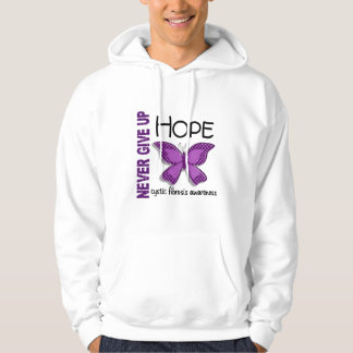 Cystic Fibrosis Never Give Up Hope Butterfly 4.1 Hoodies