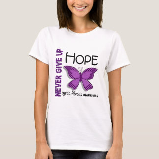 Cystic Fibrosis Never Give Up Hope Butterfly 4.1 T-Shirt