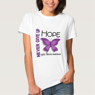 Cystic Fibrosis Never Give Up Hope Butterfly 4.1 Tee Shirt