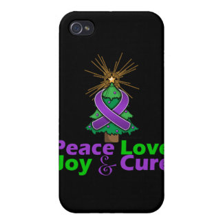 Cystic Fibrosis Peace Love Joy Cure Case For iPhone 4