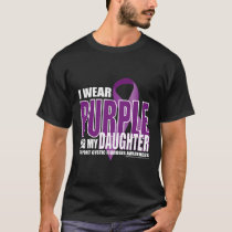 Cystic Fibrosis Purple for Daughter T-Shirt