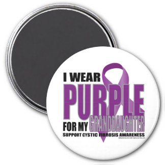 Cystic Fibrosis:Purple for Granddaughter 3 Inch Round Magnet
