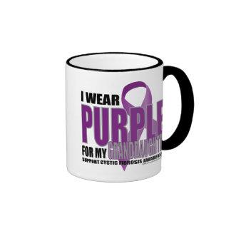 Cystic Fibrosis:Purple for Granddaughter Ringer Mug
