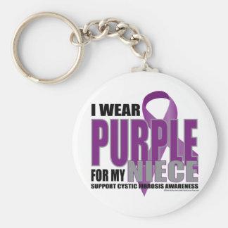 Cystic Fibrosis: Purple for Niece Keychain
