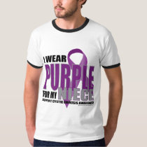 Cystic Fibrosis: Purple for Niece T-Shirt