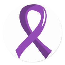 Cystic Fibrosis Purple Ribbon 3 Classic Round Sticker