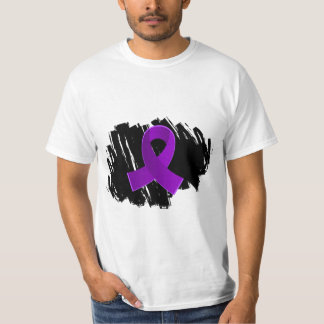Cystic Fibrosis Purple Ribbon With Scribble T-Shirt