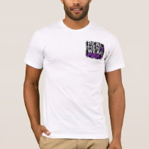 Cystic Fibrosis Real Men Wear Purple T-Shirt