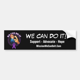 Cystic Fibrosis - Rosie The Riveter - We Can Do It Car Bumper Sticker