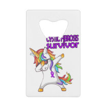 CYSTIC FIBROSIS Survivor Stand-Fight-Win Credit Card Bottle Opener