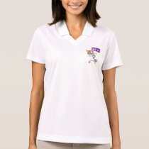 CYSTIC FIBROSIS Survivor Stand-Fight-Win Polo Shirt