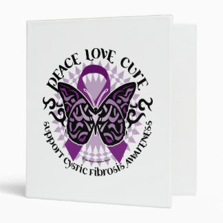 Cystic Fibrosis Tribal Butterfly 3 Ring Binder