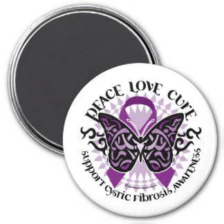 Cystic Fibrosis Tribal Butterfly Magnet