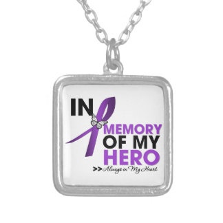 Cystic Fibrosis Tribute In Memory of My Hero Square Pendant Necklace