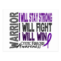 Cystic Fibrosis Warrior Postcard