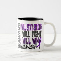 Cystic Fibrosis Warrior Two-Tone Coffee Mug