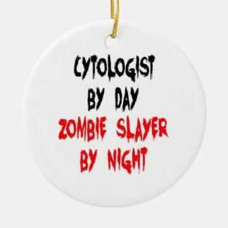 Cytologist del asesino del zombi ornamento para reyes magos