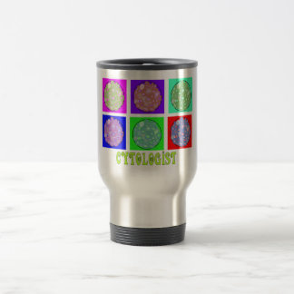 Cytologist Gifts Cells in Petrie Dishes Design Travel Mug