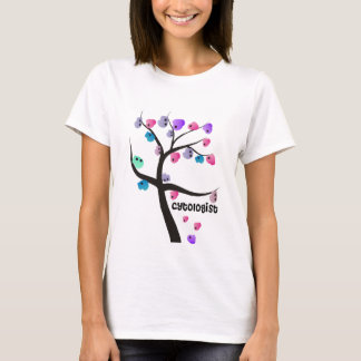 Cytologist Gifts Unique Tree With Cells Design T-Shirt