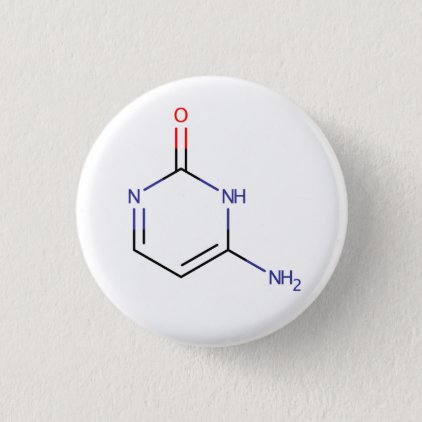 Cytosine Molecule Pinback Button