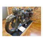 CZ-1935 Military Vintage Motorcycle Postcard