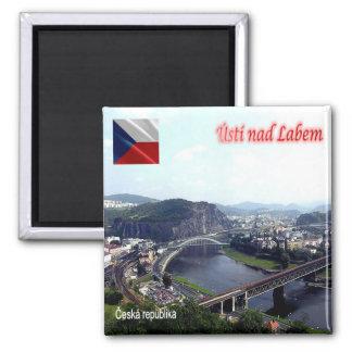 CZ - Czech Republic - Ústí nad Labem 2 Inch Square Magnet