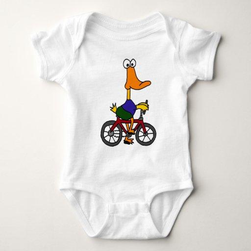 CZ- Duck Riding Bicycle Cartoon Baby Bodysuit