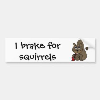 CZ- Funny Squirrel Playing the Saxophone Bumper Sticker