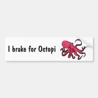 CZ- I brake for Octopi Bumper Sticker