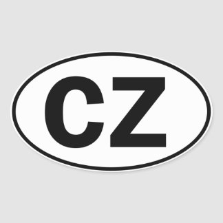 CZ Oval ID Oval Sticker