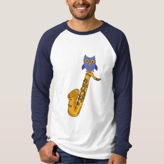 CZ- Owl and Saxophone Shirt