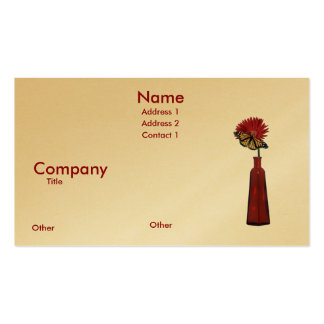 cz red vace and daisy w monacr, Name, Address 1... Business Card