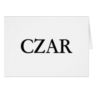 Czar Card