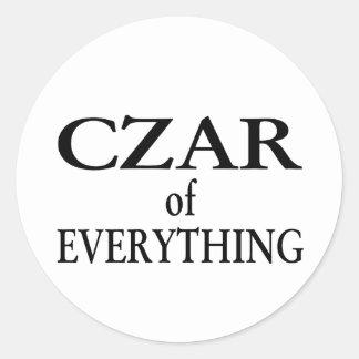 Czar of Everything Classic Round Sticker