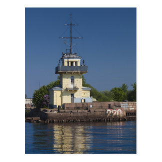 Czar Peter the Greats Naval fortress town Postcard