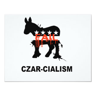 "Czarcialism 4.25"" X 5.5"" Invitation Card"