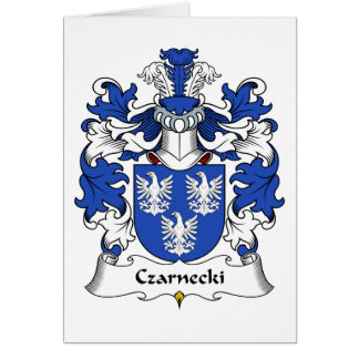 Czarnecki Family Crest Greeting Card